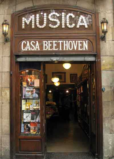 Visite Barcelone Magasin Musique Casa Beethoven